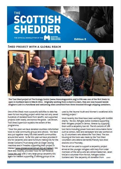 Summer Edition 8 - The Scottish Shedder - Scottish Men's Sheds