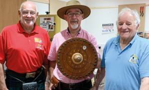 The 3 Shedders who created the SMSA Targe Shed of the Year Trophy.